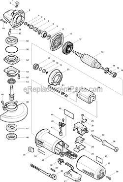makita 9564cv parts 4