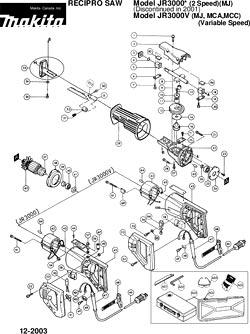 Makita Jr3000v Parts-Belt Sander, 3/8 x 21, 4 4 A   Makita P-90093